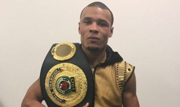 VICTORY: Chris Eubank Jr after his successful bout