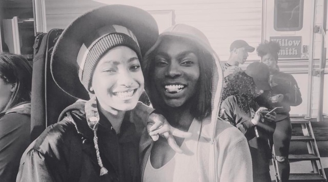 MUTUAL RESPECT: Willow Smith and Michaela Coel
