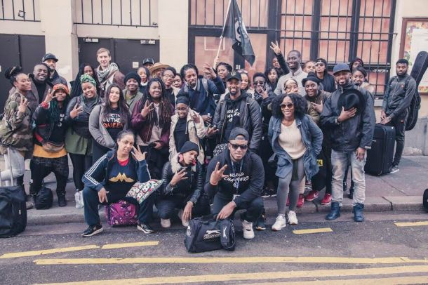 "GROUP TRAVEL: Mikel and his ""World Changer Travellers"" in Paris last year"