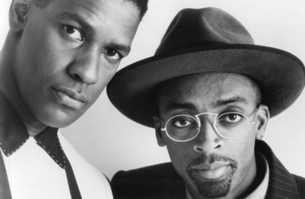 LEGENDS: Spike Lee (right) pictured with Hollywood star Denzel Washington, star of Mo' Better Blues, in 1990