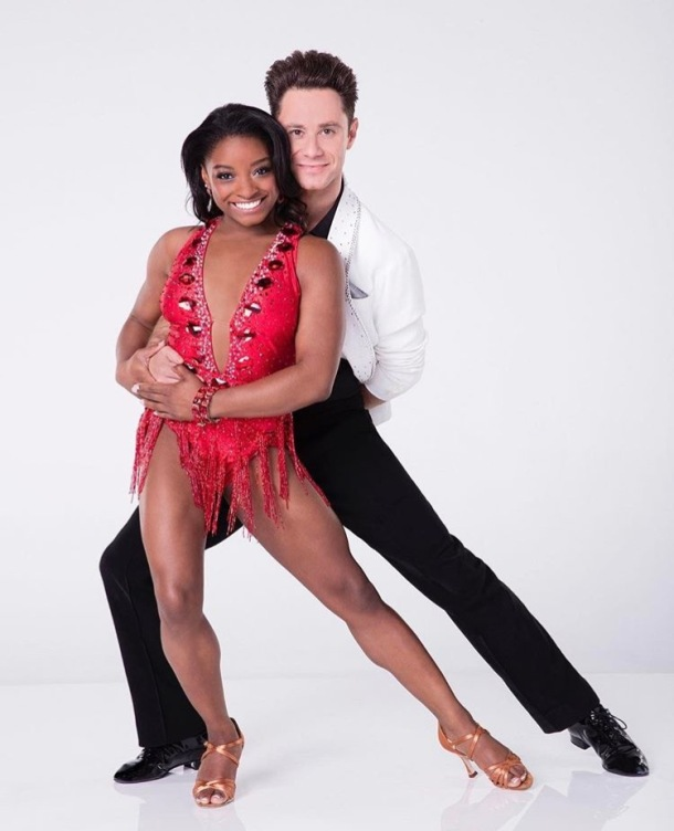 GOING FOR GOLD: Simone Biles and Dancing With The Stars partner Sasha