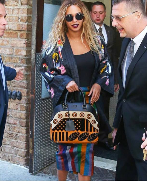 ENDORSEMENT: Beyonce Wears Senegalese Designer Selly Raby Kane's signature Kimono and skirt