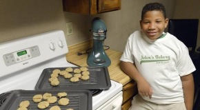 Eight-year-old learns basics of entrepreneurship and starts baking company so he can buy a house for hismum