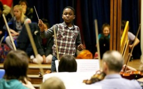 Matthew Smith, aged 11, will make history as the world's youngest conductor when he commands 75-strong orchestra nextmonth