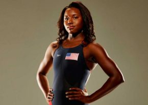 Olympic swimming champion Simone Manuel breaks another record, becomes first woman to swim 100-yard freestyle in less than 46 seconds