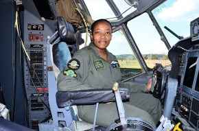 Nandi Zama, 31, becomes first black woman to qualify to fly C-130 military cargoplane