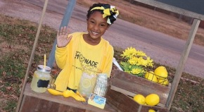 This six-year-old's lemonade stand provides supplies for foster children going into newhomes