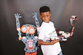 Meet the London-born whizz-kid, aged 8, who has set up his own robotics company to share his passion with other children