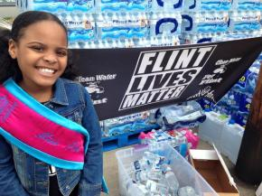 Campaigner 'Little Miss Flint', aged 9, announces she will run for president in 2044