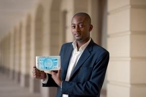 Arthur Zang, 29, created Africa's 'first fully touch screen medical tablet' enabling people in remote locations access to heart examinations