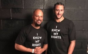 Common and Keri Hilson join Colin Kaepernick for his Know Your Rights camp empowering youth in Chicago