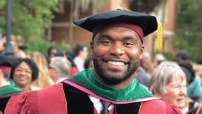 Former NFL player and Rhodes Scholar Myron Rolle graduates from medical school