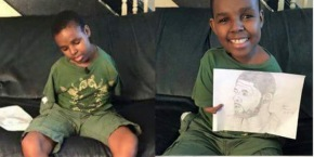 Teen born with no arms sketches Cleveland Cavaliers star Kyrie Irving with histoes