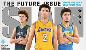 The future of basketball: Brothers Lonzo, LiAngelo and LaMelo Ball Cover SLAM magazine