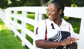 Shariah Harris, 19, becomes first black woman to ride in US polo's highest league
