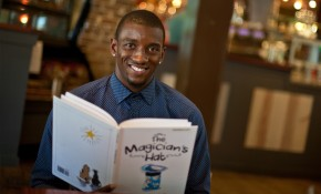 US football star lands three-book deal with children's publisher after launching successful reading program in schools